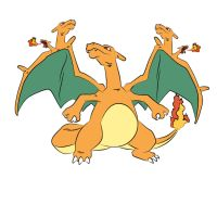 5 Headed Charizard - Original by hasanaljanaby