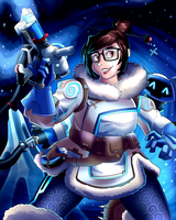 Overwatch Poster - Mei by AndrewMartinD