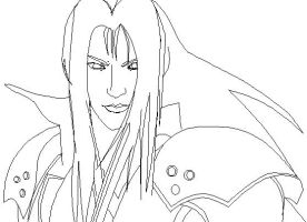 MS- Paint: Sephiroth WIP 1 by mel-lyks-cereal