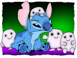 Stitch Meets the Adipose by andy-pants