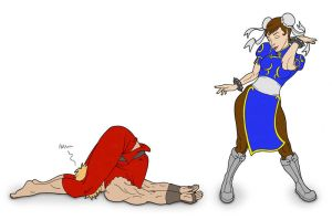 Draw Everything Part 4 and 5: Chun Li Wins by JohnRaptor