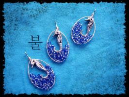 Seascape Trinity -pendants- by Ignisburns