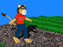 Me Walking on a Gravel Track by KBAFourthtime