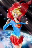 SuperGirl - Space COLORED by eHillustrations