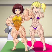 Tina And Uri in the Gym By Devmgf by kittyelfie