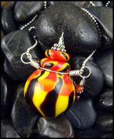Glass Lampwork Bottle Pendant by andromeda