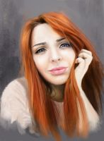 beautiful girl portrait by Nelsonito