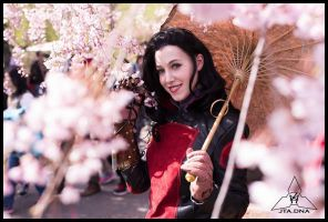 Asami Cosplay: Cherry Blossoms by Mink-the-Satyr