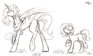 Somepony's little shadow by notthemosttalented