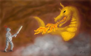 Fighting A Fire-Breathing Dragon by Genie27