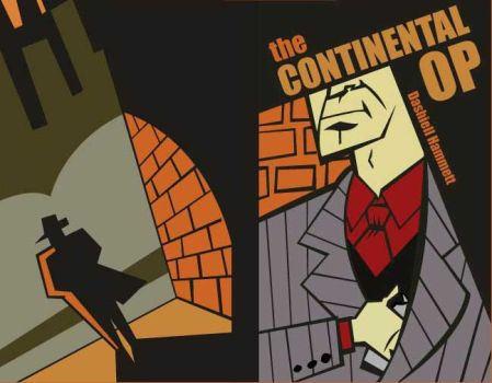 Continental Op Book Cover by NecroAnomaly