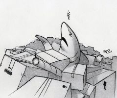 Moving Day Shark by RobtheDoodler