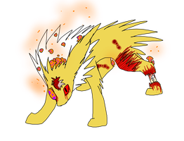Infected Battle -- Jolteon by AchievementHuntress