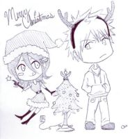 X-mas Chibis for Lendra by BleachcakeCosplay