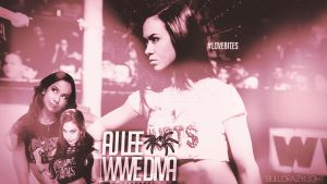WWE Diva AJ Lee Custom Wallpaper by BullCrazyLight