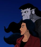 Gargoyles: Goliath and Elisa by starryeyed-nz
