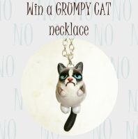 GIVEAWAY!!! Win a grumpy cat necklace!! by FlowerLandBySaraMax