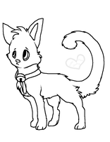 Little Kitty Lineart by HyperMuttAdoption