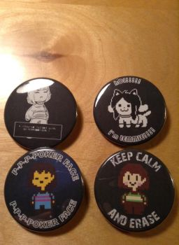 My Undertale Buttons by Madrazassassin