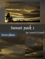 Sunset pack - 01 by LunaNYXstock