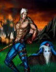 Adventure Time Finn meets mortal kombat by blueliberty