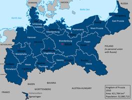 Kingdom of Prussia in 1910 by Lehnaru