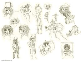 Circus Girl Sketches by Zae369
