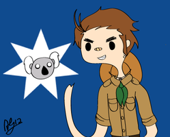 APH - Adventure Time Aussie by TheSniperKoala