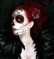 Dia De Los Muertos photo painting by SYoshiko
