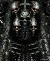 H.R Giger inspired painting by AtomiccircuS