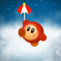 Parasol Waddle Dee in the Sky by psychoticmindsystem