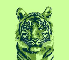 Green Tiger Vector by alexmathers