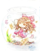 Fishbowl Reimu by Pixiescout