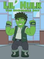 Lil' Hulk the Incredible Boy by MCsaurus