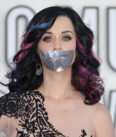 Katy Perry gagged with tape 2 by ikell