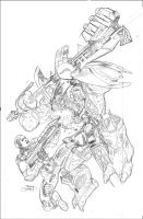 HALO : INITIATION #1 Variant Cover Pencil by TerryDodson
