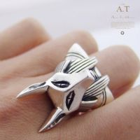 Anubis - ring made of silver by tivodar66