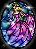 Stained Glass Sleeping Beauty by CallieClara