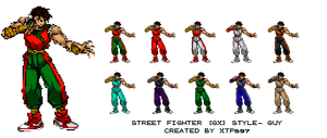 Street Fighter GX Guy Sprites by XTP597