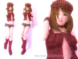 3D Glenn Girl by L3Moon-Studios