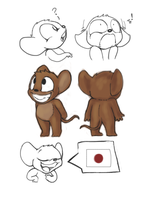 Calvin the Japanese mouse by JamieTheImp