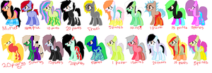 Adoptables free-20 points by KolliceKat