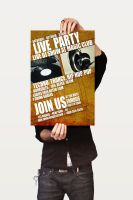 Grungy Party Poster V3 by CaCaDoo