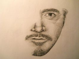 Robert Downey Jr Sketch (2) by xXBlooWahFullXx