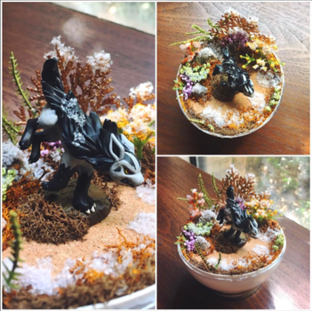 Mightyena Fall Tundra - Poke Ball Terrarium by TheVintageRealm