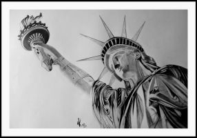 the STATUE OF LIBERTY by VARINDER0013