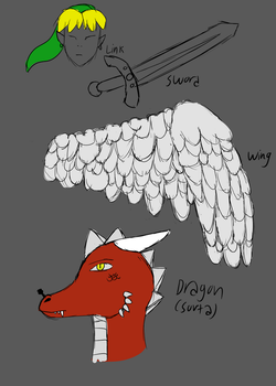Stetch Dump 1 (mythical thingys) by RazziBerriArts