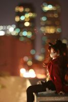 Rin in the City 2 by coffeebugg
