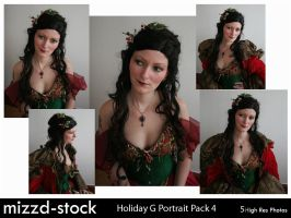 Holiday Goddess Portrait Pack4 by mizzd-stock