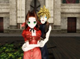 MMD CloudxAerith by Pucaroo16